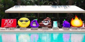Gonfiabili a forma di emoji